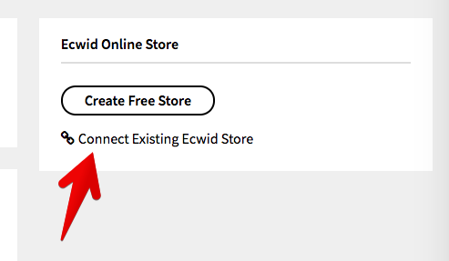 Connect Existing Ecwid Store