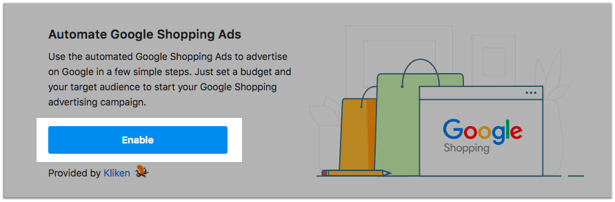Enable Google Shopping Ads