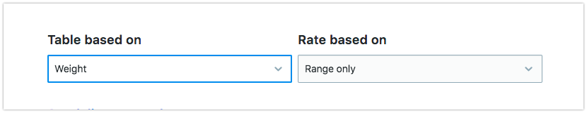 Choose the rate type