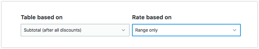 Choose the type of rates