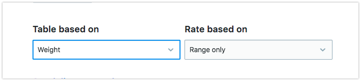 Choose how the rates will be calculated