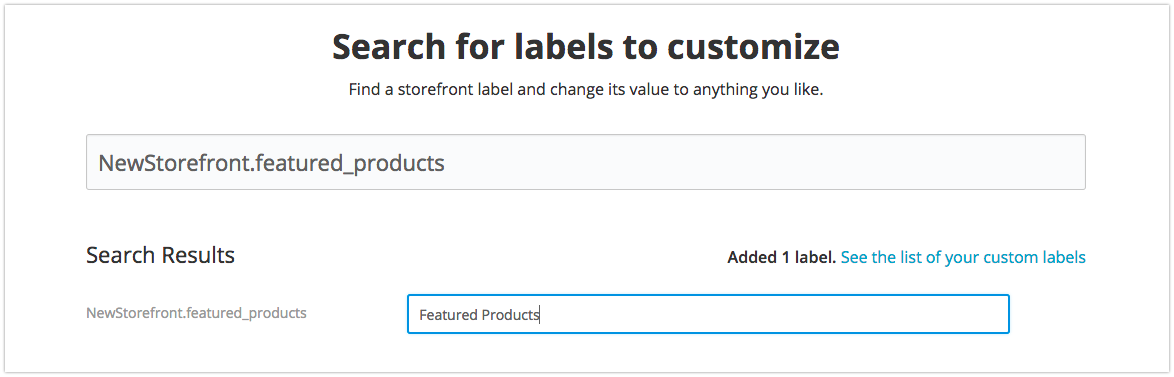 Change default label