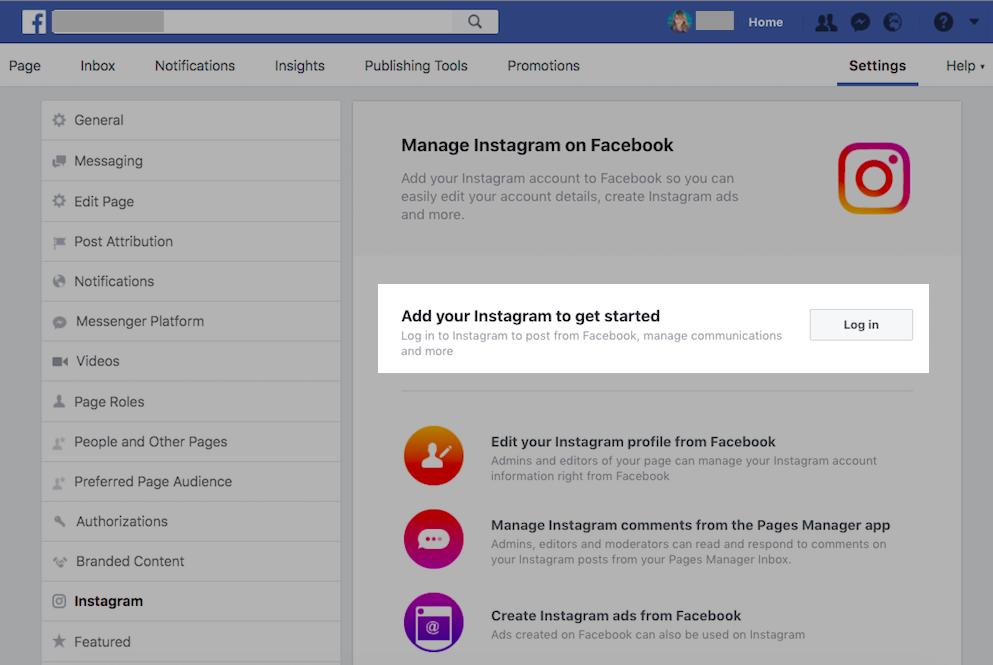 Autentica il tuo account Instagram su Facebook per ottenere lo shopping sulla funzione Instagram