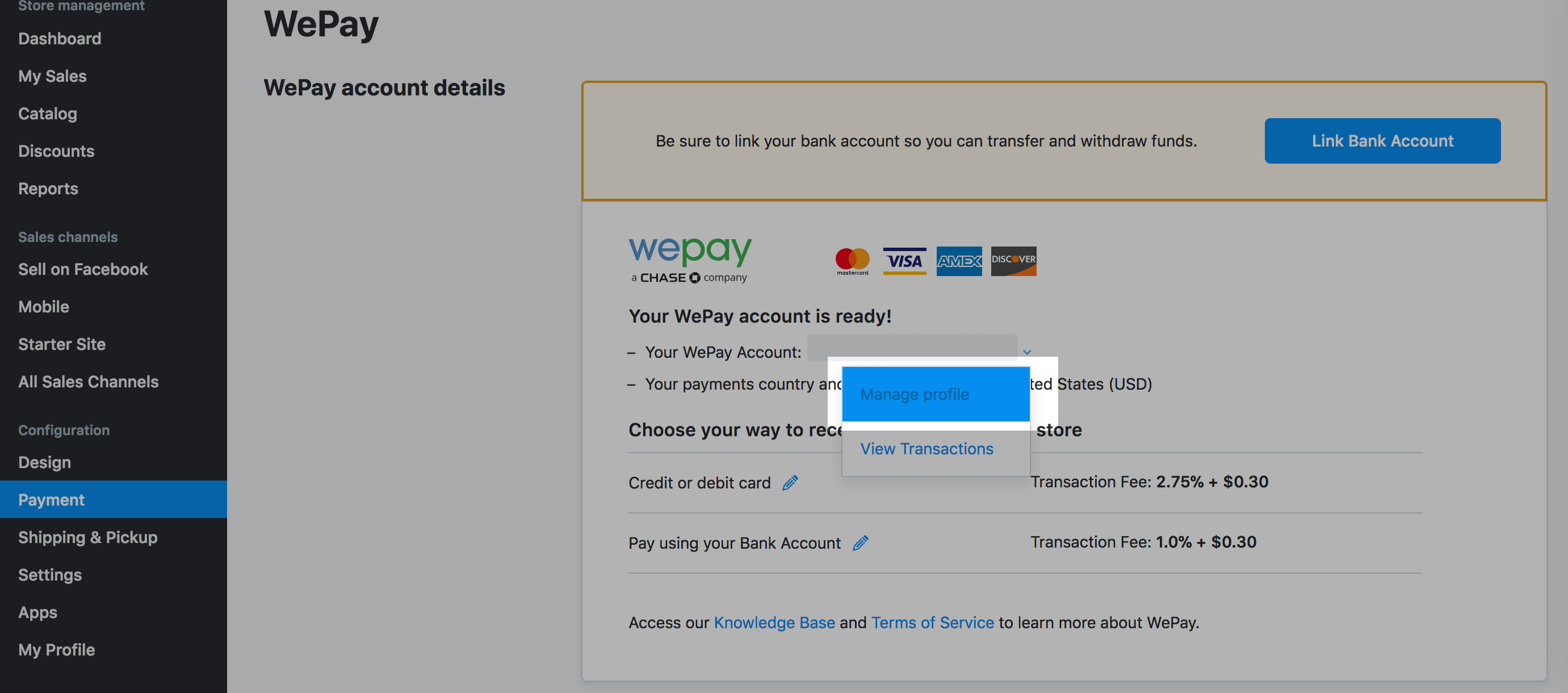 WePay (US, Canada and UK) – Ecwid Help Center