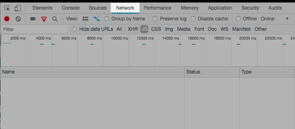 Chrome Network tab