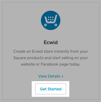 Ecwid app for Square