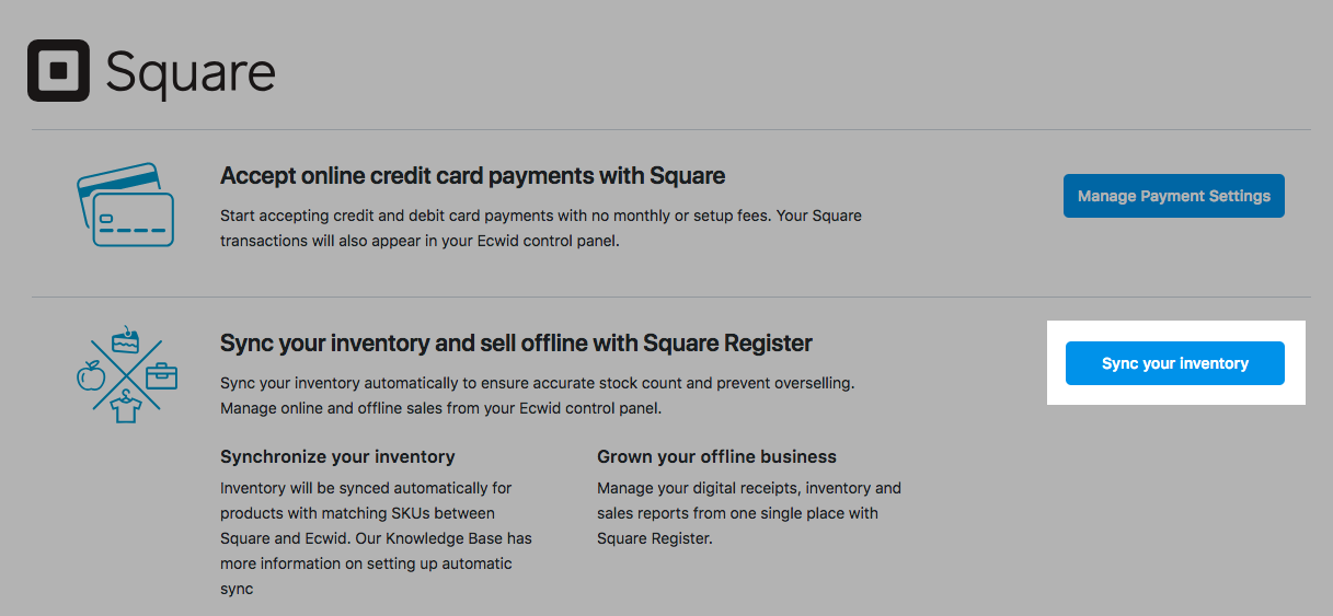 Sync your inventory with Square