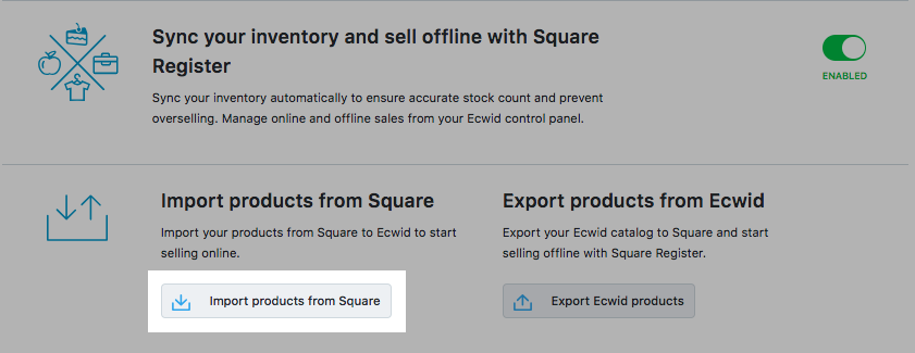 Import products from Square
