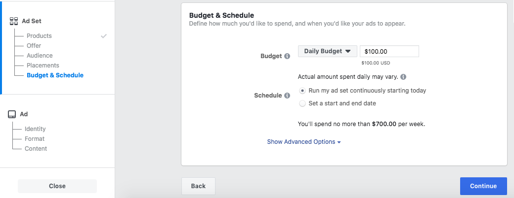Set up your budget and schedule