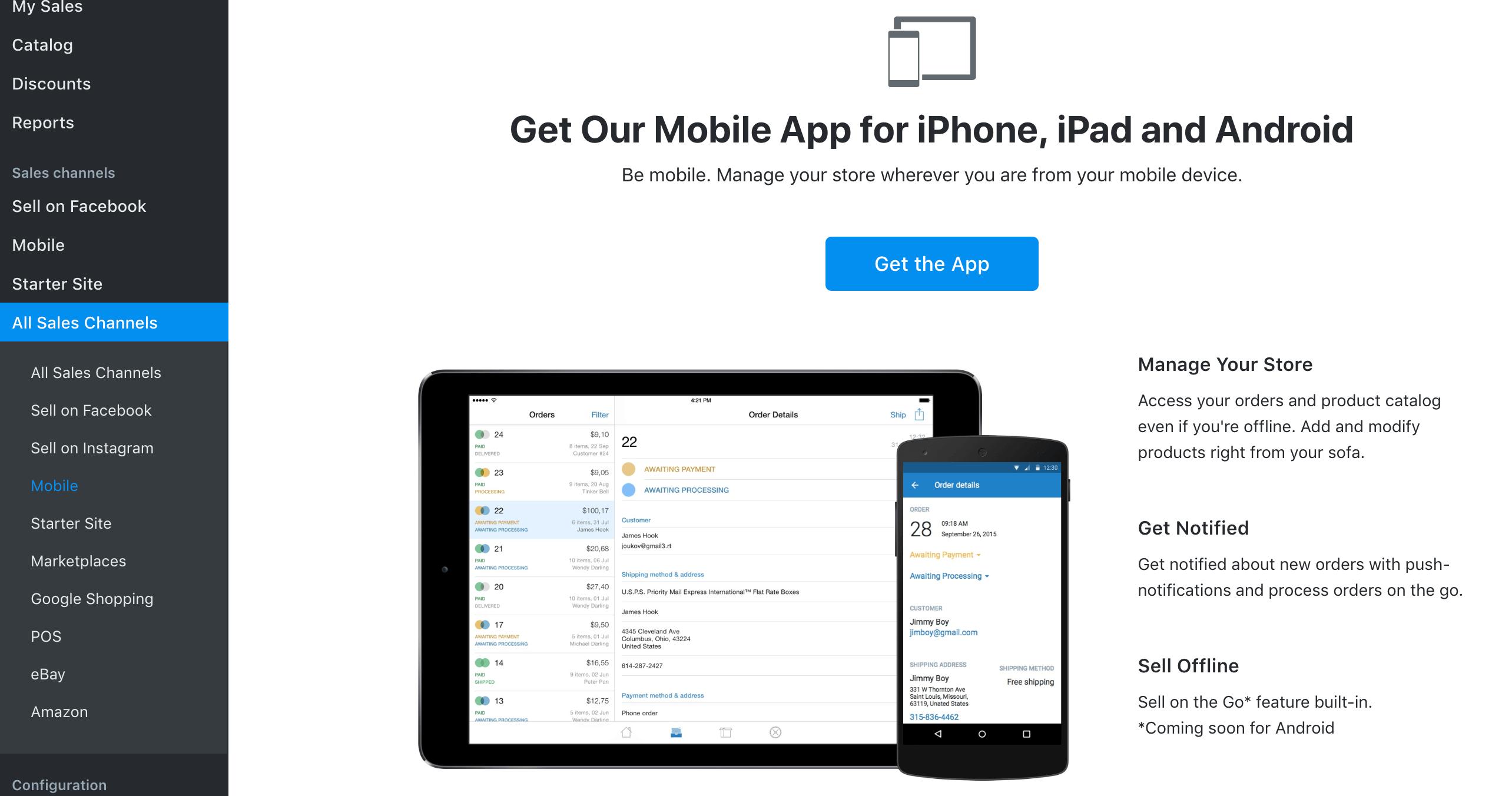 Get Ecwid mobile app