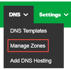 Click Manage Zones