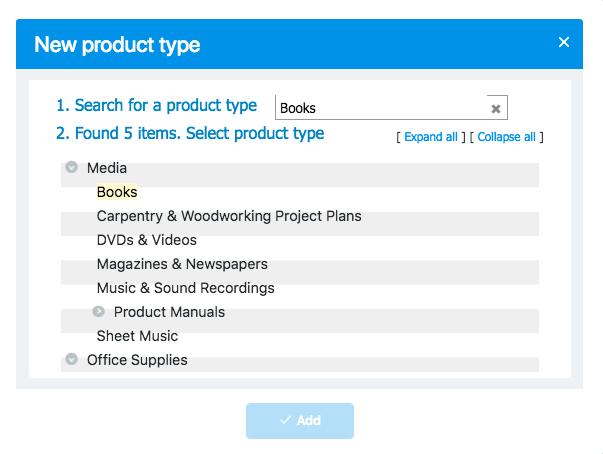 Nach einem Produkttyp suchen
