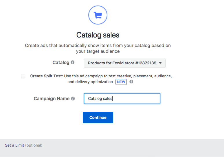 how to set up a facebook store with ecwid