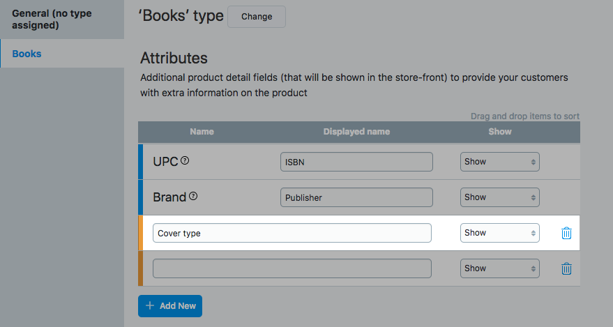 Create product attributes