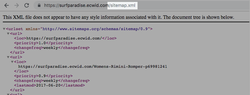 submitting sitemap to google � ecwid help center