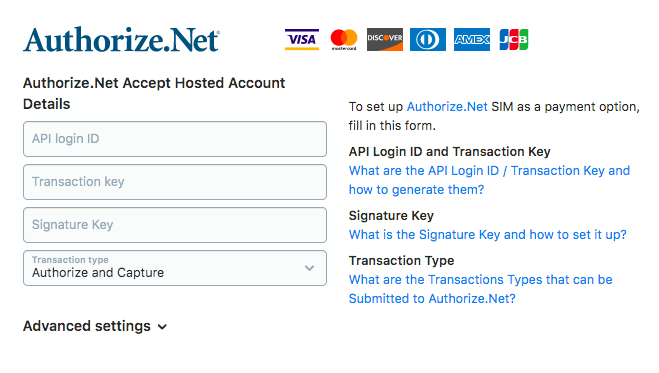 Authorize Net – Ecwid Help Center
