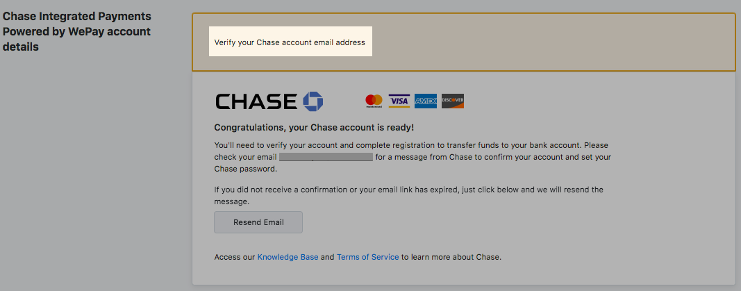 Chase Integrated Payments Powered by WePay (US, Canada and