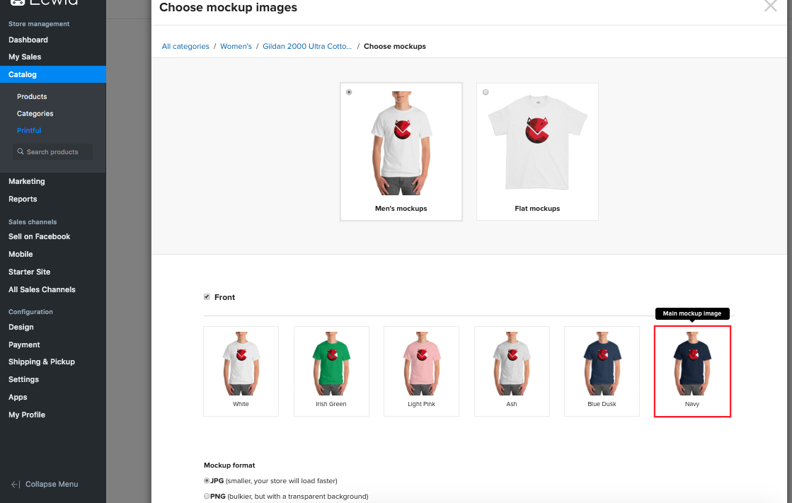 Dropshipping and fulfilling orders for custom printed products