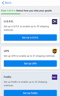 Real-time rates from carriers (USPS, UPS, FedEx, etc