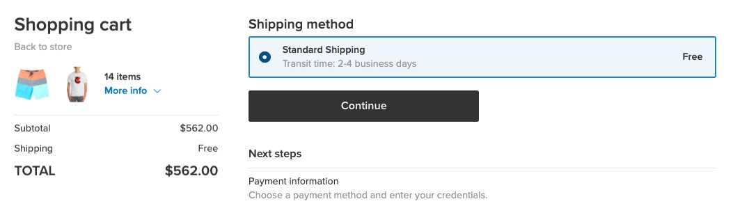 Free shipping over a subtotal
