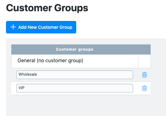 Create customer groups