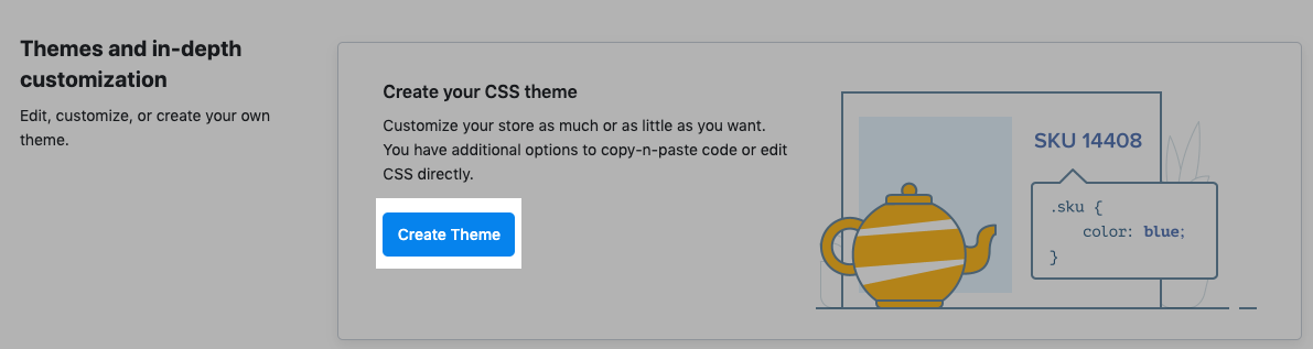 Create theme in ecwid store