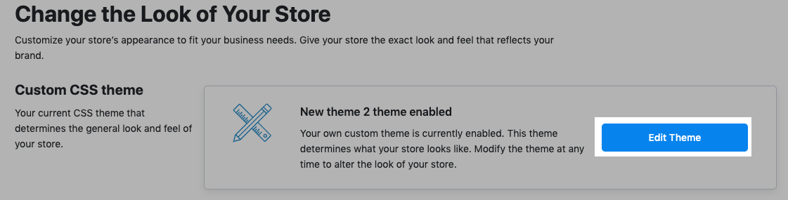 Edit existing theme in Ecwid store