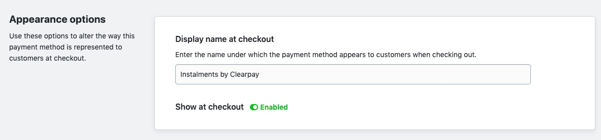 Instalments by Clearpay