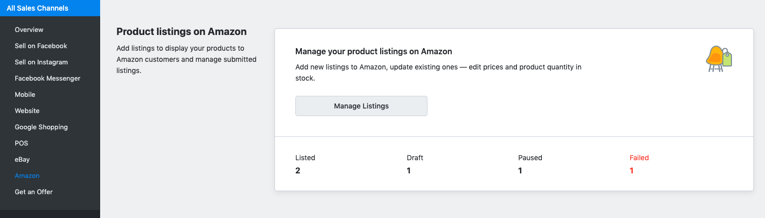 Manage Amazon listings in Ecwid