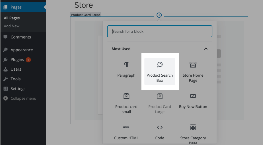 Product search in Wordpress