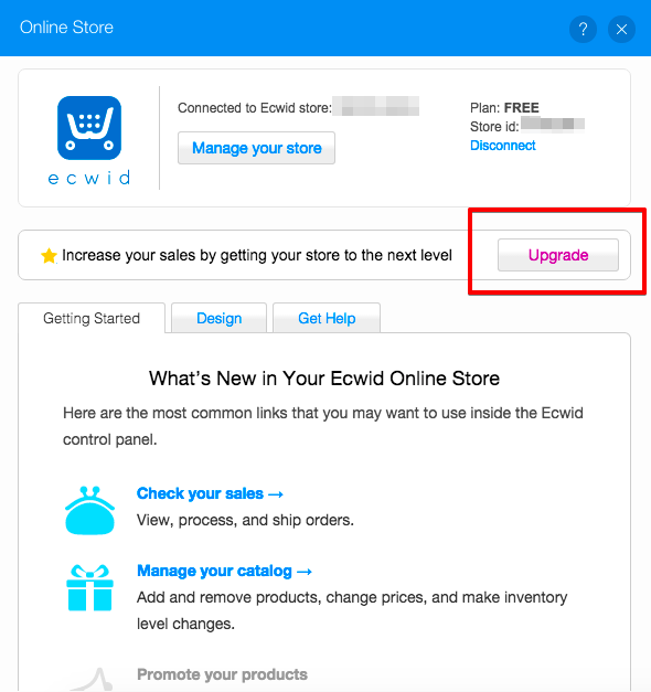 wix how to add a store