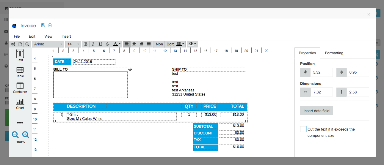 Customising invoices – Ecwid Help Center